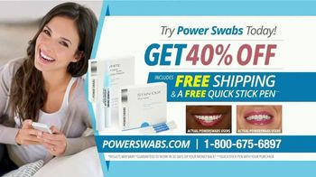 Power Swabs TV Spot, 'Stop Whitening the Old Fashion Way: Save 40% Off' - Thumbnail 9