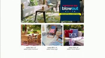 Overstock.com Memorial Day Blowout TV Spot, 'Up to 70% Off & Free Shipping on Everything'