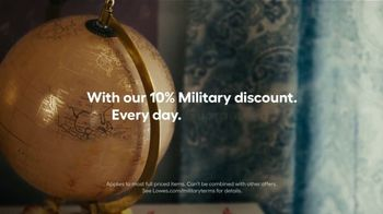 Lowe's TV Spot, 'Everyday Military Discount: Home'