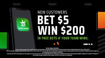 DraftKings Sportsbook TV Spot, 'Playoff Thrills: Bet $5 to Win $200' - Thumbnail 7