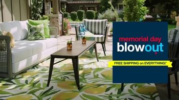 Overstock.com Memorial Day Blowout TV Spot, 'Christopher Knight Patio Furniture Savings and Free Shipping' - Thumbnail 1