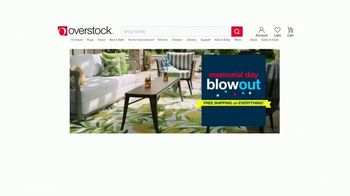 Overstock.com Memorial Day Blowout TV Spot, 'Christopher Knight Patio Furniture Savings and Free Shipping' - Thumbnail 2