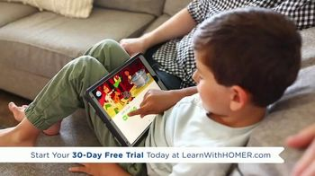 Learn with Homer TV Spot, 'At Home Learning Solution: 30 Day Free Trial'