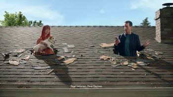 Veterans United Home Loans TV Spot, 'Through the Roof Reviews with Rob Riggle and Ariel' - Thumbnail 6