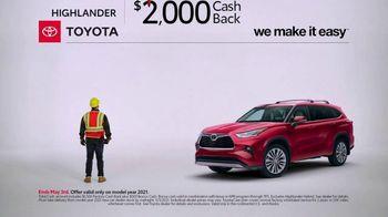 Toyota TV Spot, 'Construction: Highlander' [T2] - Thumbnail 1