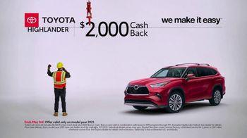 Toyota TV Spot, 'Construction: Highlander' [T2] - Thumbnail 2