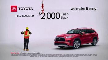 Toyota TV Spot, 'Construction: Highlander' [T2] - Thumbnail 3