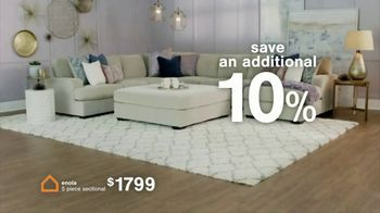 Ashley HomeStore The Big Deal Event TV Spot, 'Save 10%: Bed and Sectional' - Thumbnail 4