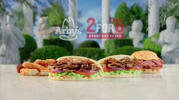 Arby's 2 for $6 Everyday Value TV Spot, 'Famous Quotes: Socrates' Song by YOGI - Thumbnail 4