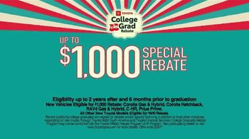 Toyota College Grad Rebate TV Spot, 'Start Your Journey' [T2] - Thumbnail 2