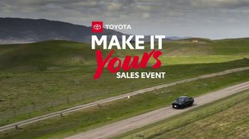 Toyota Make It Yours Sales Event TV Spot, 'Get In Today: Country Roads' Song by Jet [T2] - Thumbnail 1