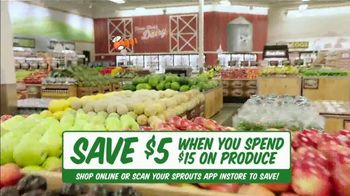 Sprouts Farmers Market TV Spot, 'Everything You Love: $5 Off for $15 Spent'