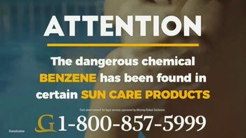 Goldwater Law Firm TV Spot, 'Sun Care Products'