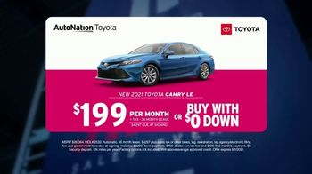 AutoNation Toyota Fast Start Sales Event TV Spot, '2021 Camry LE' Featuring Alexander Rossi - Thumbnail 3