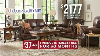 Rooms to Go Memorial Day Sale TV Spot, 'Cindy Crawford Home Classic Leather Sofa & Loveseat' - Thumbnail 4