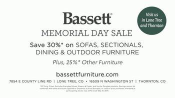 Bassett Memorial Day Sale TV Spot, 'Just a Sofa: Save 30%' - Thumbnail 9