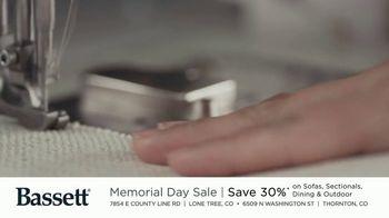 Bassett Memorial Day Sale TV Spot, 'Just a Sofa: Save 30%' - Thumbnail 1
