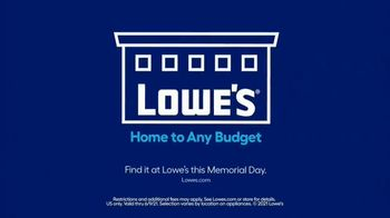 Lowe's TV Spot, 'Memorial Day: Refrigerator, Airfry and Laundry' - Thumbnail 10