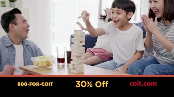 COIT TV Spot, 'Time Indoors: 30% Off'