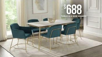 Rooms to Go Memorial Day Sale TV Spot, 'Modern Dining Set' - Thumbnail 5