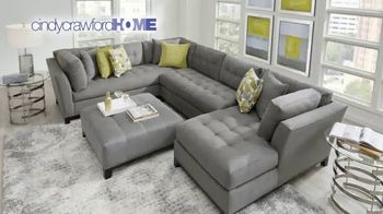 Rooms to Go Memorial Day Sale TV Spot, 'Cindy Crawford Home Three-Piece Sectional: $2,195' - Thumbnail 3