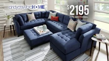 Rooms to Go Memorial Day Sale TV Spot, 'Cindy Crawford Home Three-Piece Sectional: $2,195' - Thumbnail 4