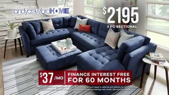 Rooms to Go Memorial Day Sale TV Spot, 'Cindy Crawford Home Three-Piece Sectional: $2,195' - Thumbnail 5