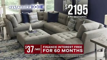 Rooms to Go Memorial Day Sale TV Spot, 'Cindy Crawford Home Three-Piece Sectional: $2,195' - Thumbnail 6