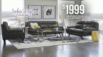 Rooms to Go Memorial Day Sale TV Spot, 'Sofia Vergara Collection Leather Sofa & Loveseat' - Thumbnail 6