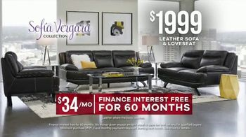 Rooms to Go Memorial Day Sale TV Spot, 'Sofia Vergara Collection Leather Sofa & Loveseat' - Thumbnail 7