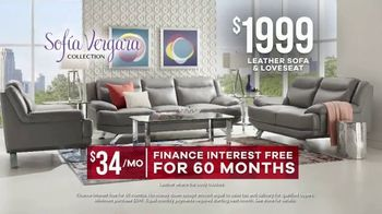 Rooms to Go Memorial Day Sale TV Spot, 'Sofia Vergara Collection Leather Sofa & Loveseat' - Thumbnail 8