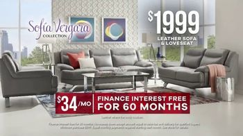 Rooms to Go Memorial Day Sale TV Spot, 'Sofia Vergara Collection Leather Sofa & Loveseat' - Thumbnail 9