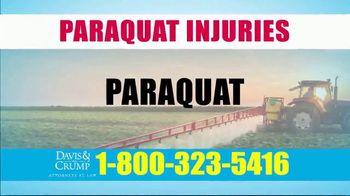 Davis & Crump, P.C. TV Spot, 'Paraquat Injuries'