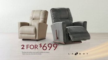 La-Z-Boy 2 Great Chairs Event TV Spot, 'Customize Your Comfort: $699' - Thumbnail 4