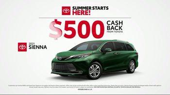 Toyota Summer Starts Here TV Spot, 'Summer Activities' [T2] - Thumbnail 6