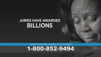 Shenaq, PC TV Spot, 'Baby Powder Ovarian Cancer Warning'