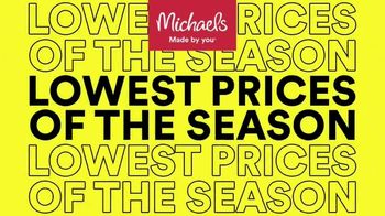 Michaels Lowest Prices of the Season Sale TV Spot, 'Frames, Home Decor and Craft Supplies' - Thumbnail 1