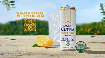 Michelob ULTRA Organic Seltzer TV Spot, 'Vacation in This Ad: Citrus'