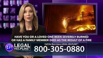Legal Help Line TV Spot, 'Burn Injury' - Thumbnail 2