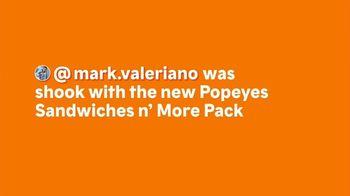 Popeyes Sandwiches n' More Pack TV Spot, 'Shook: Rewards' - Thumbnail 1