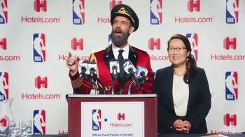 Hotels.com TV Spot, 'NBA Press Conference'