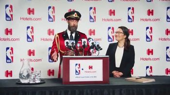 Hotels.com TV Spot, 'NBA Press Conference' - Thumbnail 2