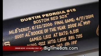 Big Time Bats Dustin Pedroia Retirement and Career Stat Louisville Slugger Bat TV Spot, 'Limited Edition' - Thumbnail 1