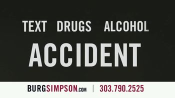 Burg Simpson TV Spot, 'Text, Drugs or Alcohol'