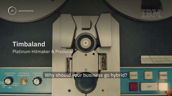 IBM Hybrid Cloud TV Spot, 'The Benefits of a Hybrid Cloud Approach' Featuring Timbaland - Thumbnail 2