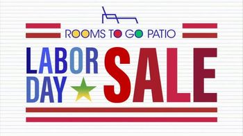 Rooms to Go Patio Labor Day Sale TV Spot, 'Outdoor Dining Sets, Seating and More' - Thumbnail 2