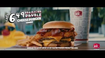 Jack in the Box BBQ Bacon Double Cheeseburger Combo TV Spot, 'Cannonball: $6.49' Ft. King Bach - Thumbnail 7