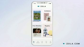 Zola TV Spot, 'Wild About Wedding Planning' - Thumbnail 3