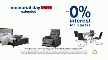 Ashley HomeStore Memorial Day Sale TV Spot, 'Extended: Up to 30% Off or No Interest' - Thumbnail 6