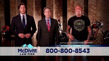 McDivitt Law Firm, P.C. TV Spot, 'After a Motorcycle Crash' Featuring Paul Teutul Sr.
